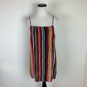 Free People Rainbow Striped Cami with Side Slits